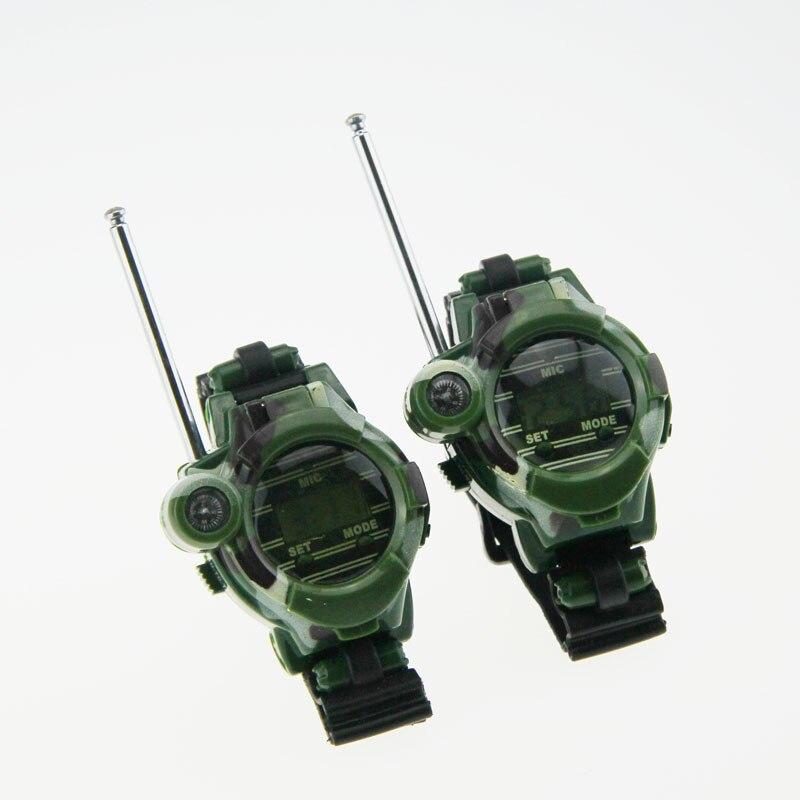 1 Pair Watches Walkie Talkie 7 in 1 Children Watch Radio Outdoor Interphone Toy For Children
