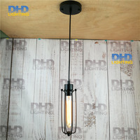 110 240v Art Deco Vintage Industrial Antique Metal Cage Pendant Light Factory Wire Steel Lampshade lamps new 2015 pendentes luz