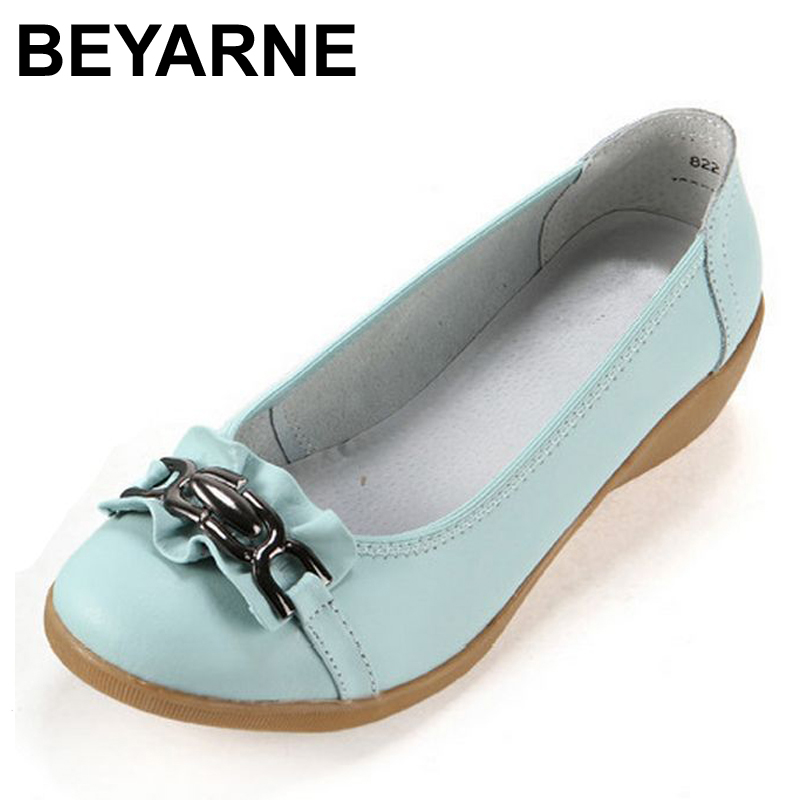 BEYARNE 2017 new low slope with leather tendon at the end to help Korean breathable leather shoes free shipping Peas 2016 summer new leather tendon at the bottom side of the empty fish head crude rainbow low heeled shoes women xtf039