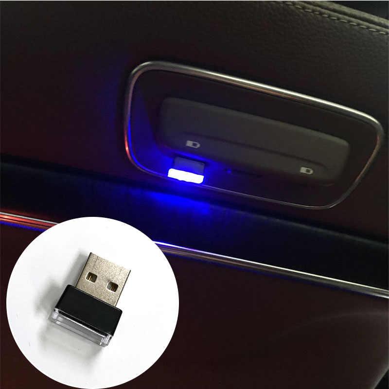 Mobil USB LED Suasana Lampu untuk Kia Sorento Stinger Niro Karnaval Ray Venga Melanjutkan Stonic SP Telluride