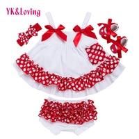 Mode Baby Meisjes Swing Top Set Stip Swing Verstoorde Outfits Met Bijpassende Bloomer Hoofdband Sets Meisje Kleding Zuigeling X006