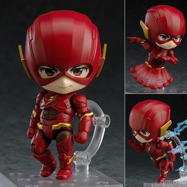 Anime DC Justice League Flash Nendoroid 917 Cute Kawaii Super Hero 10cm Action Figure Toys