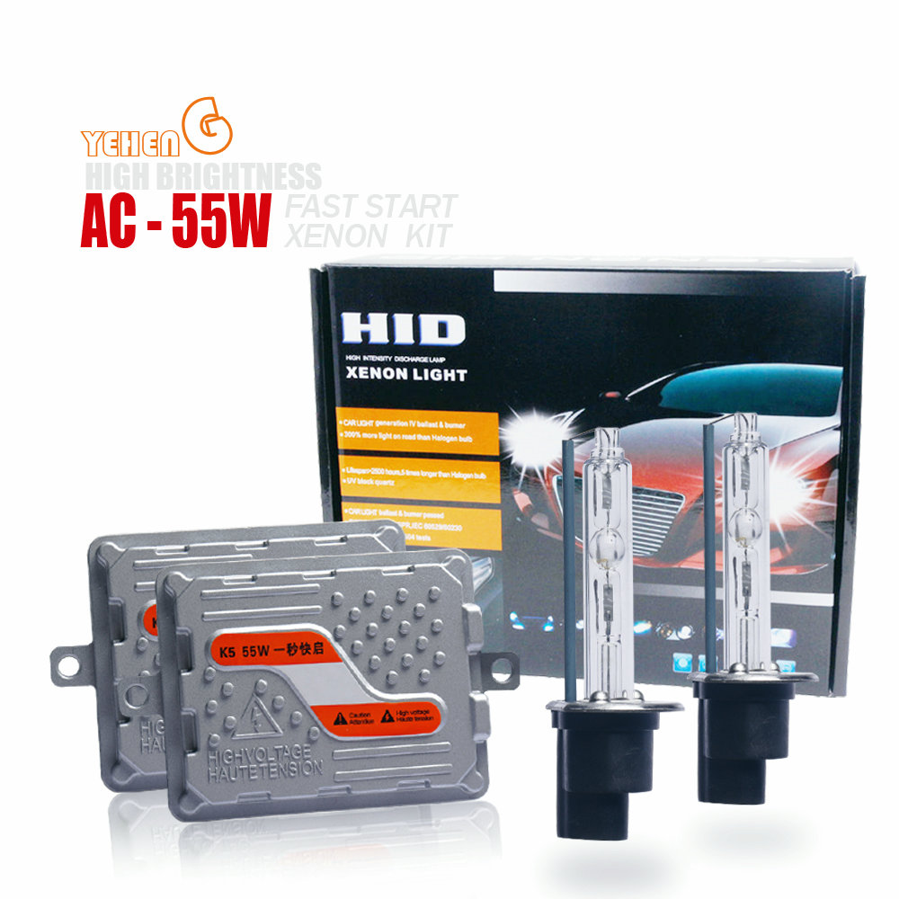 YEHENG Fast Start HID Bulb Xenon Conversion Kit Car Headlight H1 H3 <font><b>H7</b></font> H4 H11 HB4 9006 9012/HIR2 D2H 6000K 4300K 12V55W image