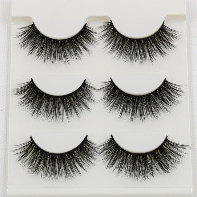 012 Smokey Makeup False Eyelashes 3D Stereo Multi-layer Cross Messy Natural Fake Eyelashes Soft Cotton Thread Thick Eyelashes 2