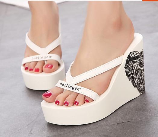 platform slippers shoes woman designer slides women 2018 mules dames wedge luxury summer slipers designers wedges