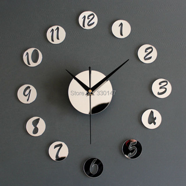 Superior Home Decor Wall Clock Acrylic Creative Mirrors Figure In Small Round Wall  Clock Best DIY Clock