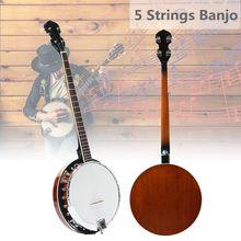 5 струн банджо гитара из красного дерева традиционная Западная укулеле концертная бас гитара для музыкальных струнных инструментов