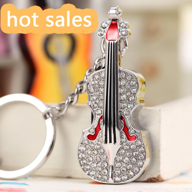 Jewelry Guitar Usb Key Chain Gift Pendrive 1TB 2TB USB 64GB Flash Drive Pendriver Pen Drive 32GB 16GB 128GB Memory Stick 2.0 image