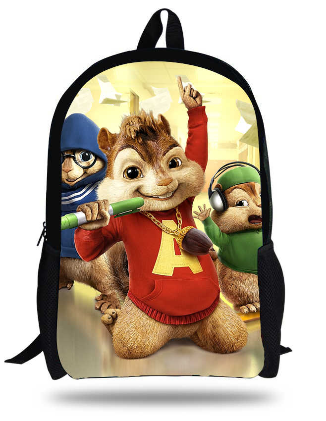 16 Inch Movie Alvin And The Chipmunks Mochila Escolar Menino Kids School Bags For Boys Children Backpacks Cartoon Bags Old Backpack Advertisingbackpack Plush Aliexpress
