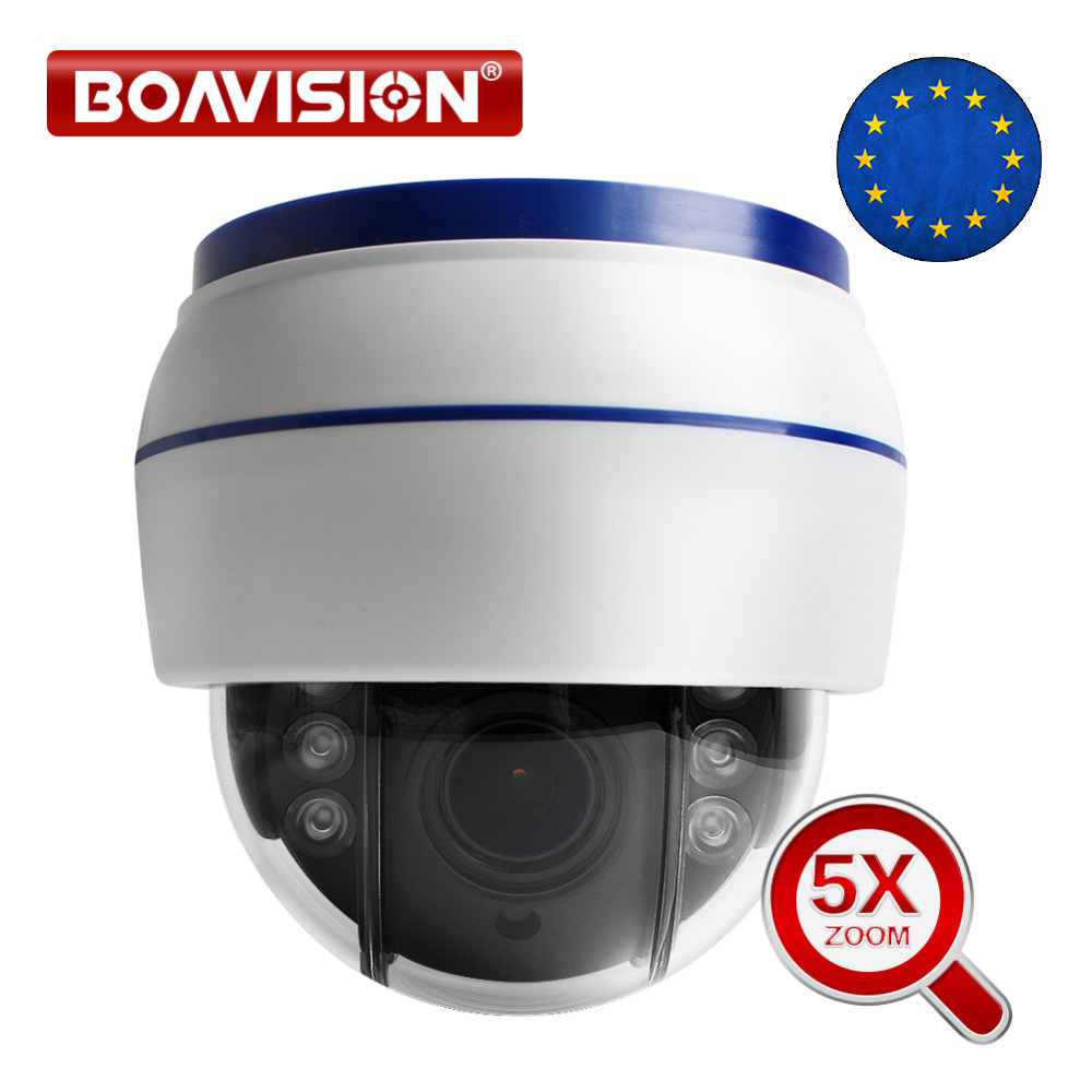 Speed Dome PTZ Câmera IP sem fio Wi-fi HD 1080P 960P Auto Foco 5X Zoom 2.7-13.5mm cartão SD de Áudio Noite IR Onvif interior P2P Nuvem