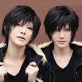 OHCOS Новый Durarara Изая Orihara 12 дюйм(ов) Короткие Черное Мужские Синтетические Волосы Косплей Парик