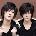 OHCOS New Durarara Izaya Orihara 12inches Short Black Layered Mens Synthetic Hair Cosplay Wig