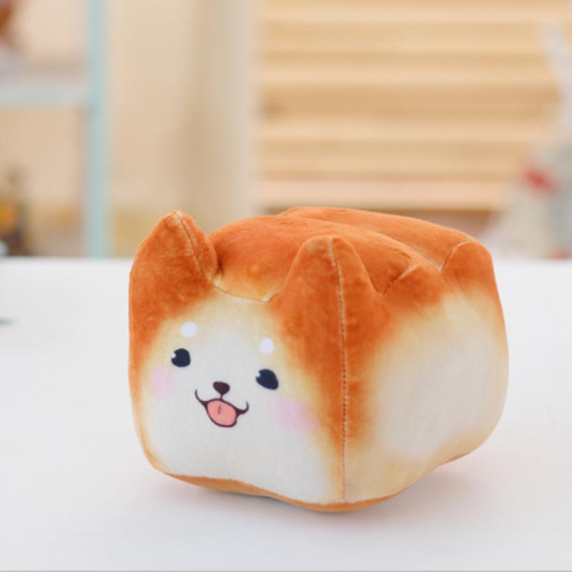 16 lindo perro/gato almohada cojín para inclinarse en pan creativo gato de peluche de juguete muñeca cumpleaños