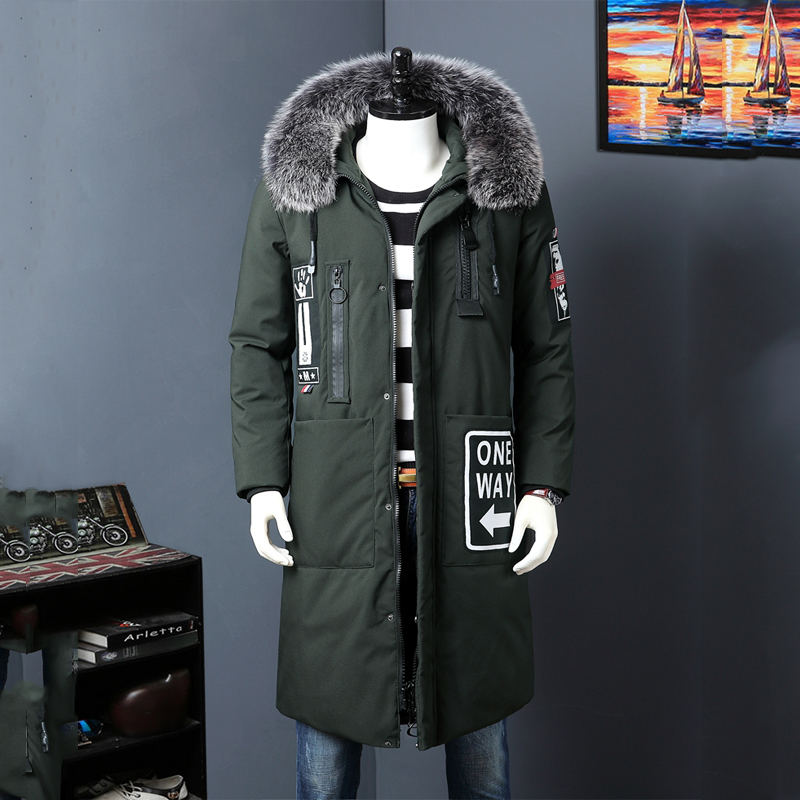 Casual & Fashion Russia Winter Jacket Men Brand Tace & Shark White Duck   Down   Jacket Men Thicken Fur Collar Long   Down     Coat   Men