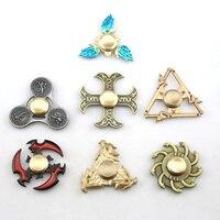 Hot Sales EDC Toys Triangular Hand Spinner Metal Profession Genji Spinner ADHD Tri Spinner Cool Fidget