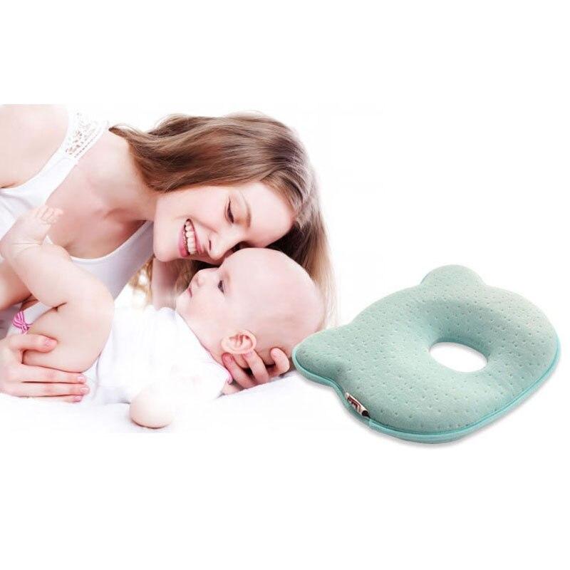 0 ~ 12 м пены памяти Подушки для детей Дышащие Детские подушки определенной формы для предотвращения плоской головкой эргономичная подушка д...