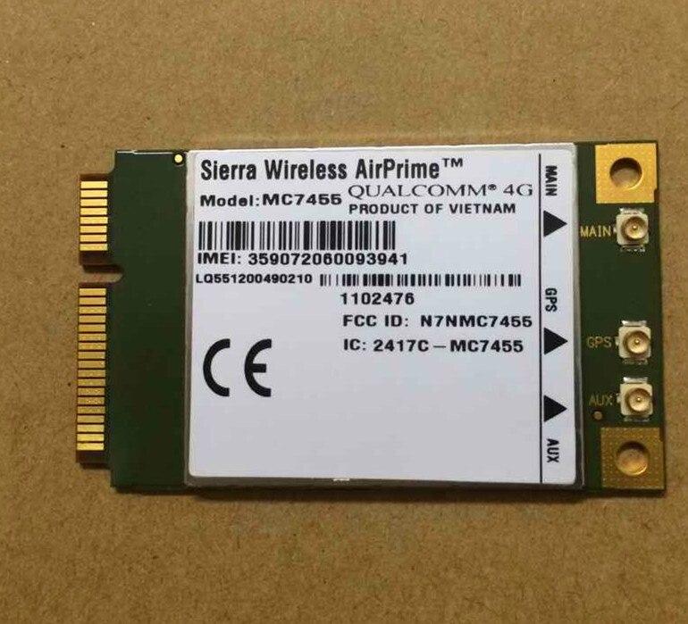Original MC7455 Sierra Wireless FDD/TDD LTE 4G CAT6 DC-HSPA+ GNSS WWAN Card USB 3.0 MBIM interface Gualcomm chipset sierra wireless em7305 4g lte module support ngff 4g antenna gobi5000 fdd lte evdo dc hspa wwan netwwork card