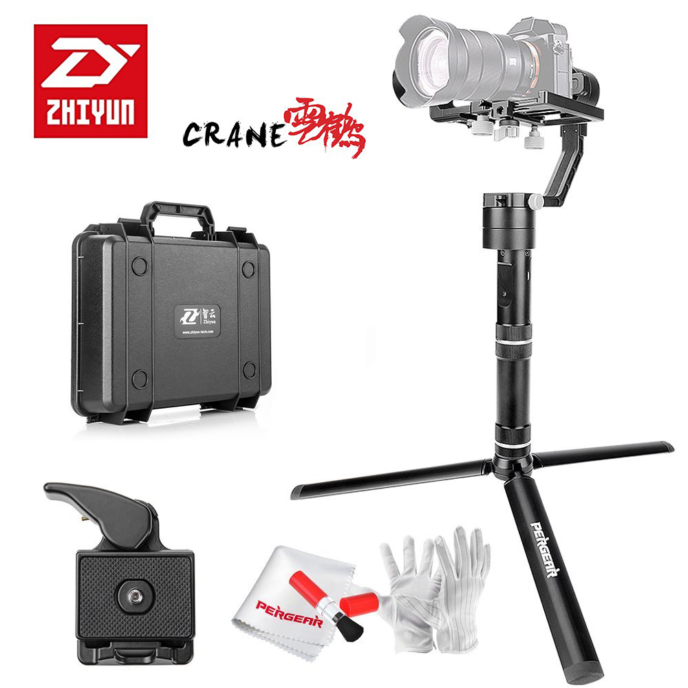 Zhiyun Crane V2 3 Axis Handheld Gimbal Stabilizer 3 32bit MCUs Brushless Motors with Encoders for Mirrorless Camera for Sony A7 [hk stock][official international version] xiaoyi yi 3 axis handheld gimbal stabilizer yi 4k action camera kit ambarella a9se75 sony imx377 12mp 155 degree 1400mah eis ldc sport camera black