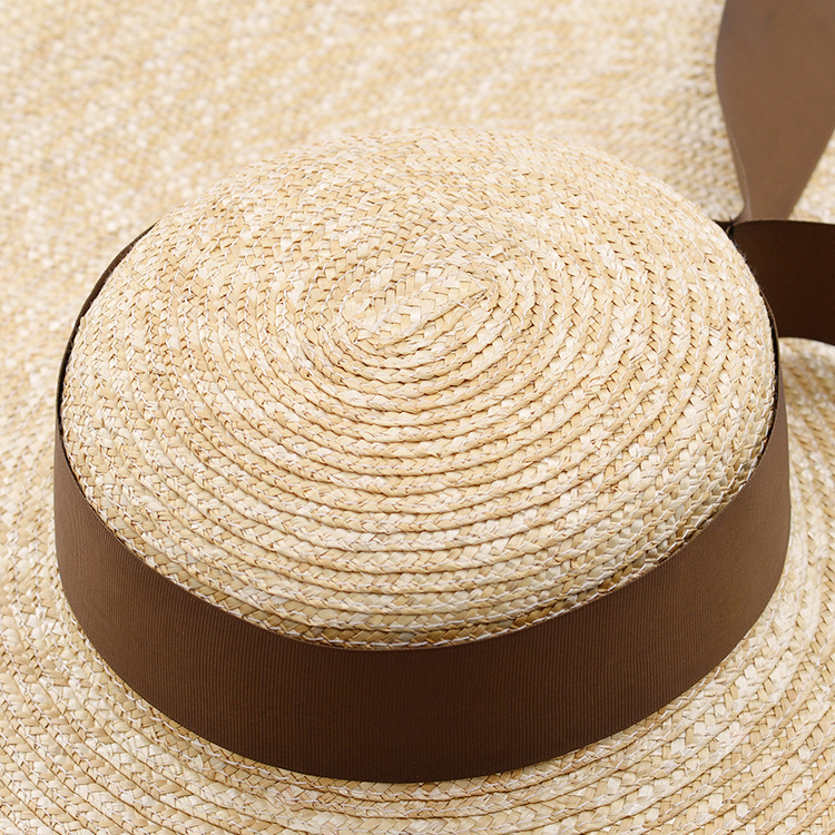 Muchique Sun Hats for Women Vintage X Large Brim Boater Hat Wheat Straw  Summer Hats Braid Beach Hat-in Sun Hats from Apparel Accessories on  Aliexpress.com ... 02cd199aa6ac