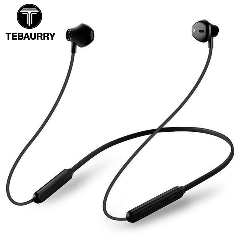TEBAURRY Magnetic Neckband Bluetooth Earphone Wireless Headset Stereo Bass Sport Bluetooth Headphone for iphone redmi note 5 pro mllse anime gundam neckband bluetooth headphone earphone wireless stereo sport headset for iphone samsung xiaomi oppo vivo pc