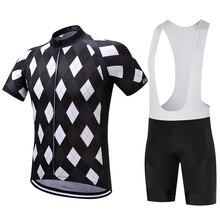 Summer Men's Cycling Jersey Set 2018 New Pro Team Geometry Pattern Bib MTB Bike Bicycle Cycling Clothing with Reflective Stripe все цены