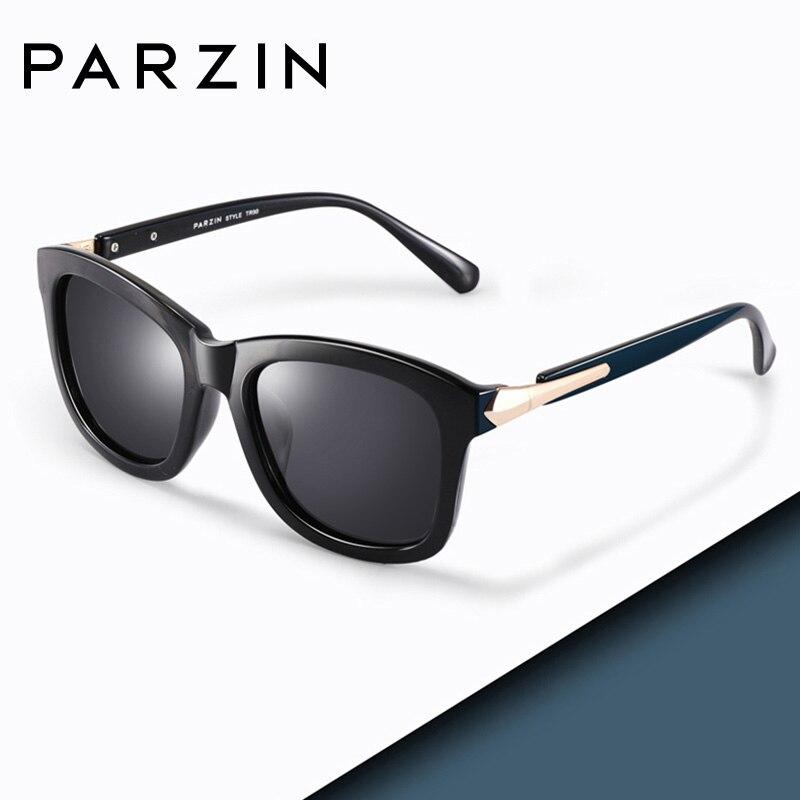 PARZIN Fashion Polarized Sunglasses Women Lovers Beach Sun Shade Luxury Brand Driving Sun Glasses Retro Square Lens UV400