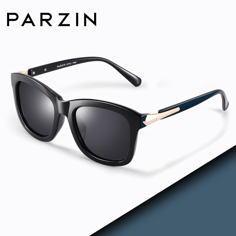 PARZIN Fashion Polarized Sunglasses Women Lovers Beach Sun Shade Luxury Brand Driving Sun Glasses Retro Square Lens UV400