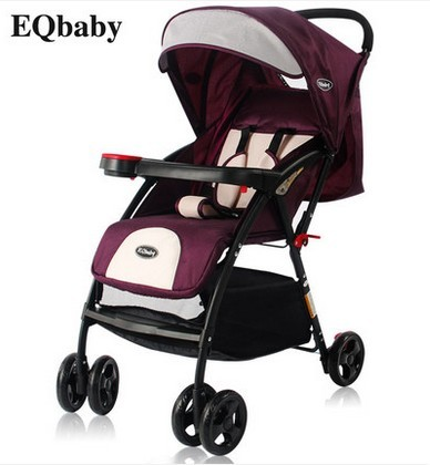 Cochecitos puede sentarse o acostarse cuatro amortiguadores BB portátil plegable bebé cochecitos de coches