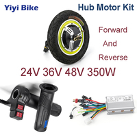 24V 48V 350W 12inch Electric Vehicle DC Motor Brushless Motor controller Electric Bicycle ebike Scooter Throttle conversion Kit