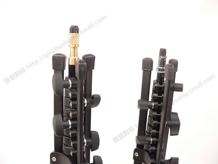 Support de lampe flash 5 segments vis d'interrupteur à tête en cuivre court facile à transporter pliant CD50 - 3