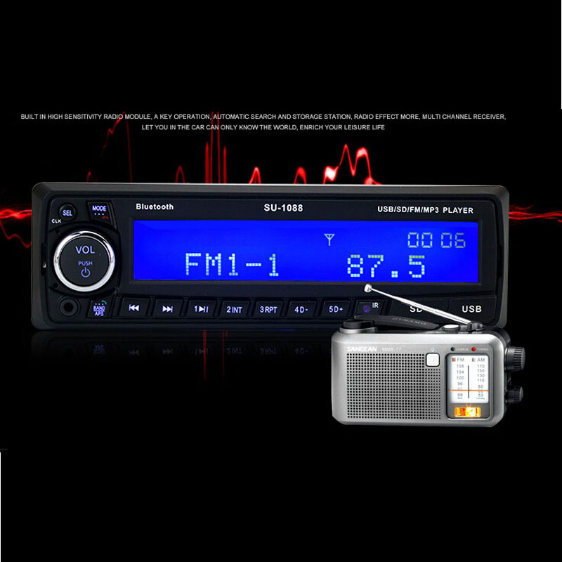 Car Audio Car mp3 player  card machine supports Bluetooth car phone Bluetooth music radio U disk super car