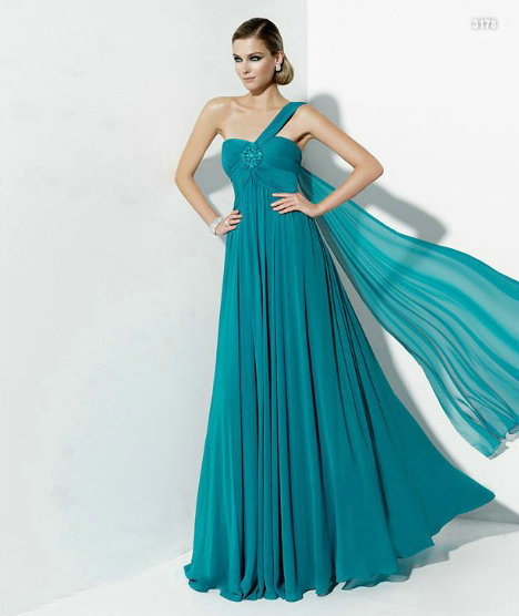 b7ee944be678 online shopping one shoulder most beautiful vestido de festa/amazon cheap  elegant long chiffon simple blue evening dresses porn