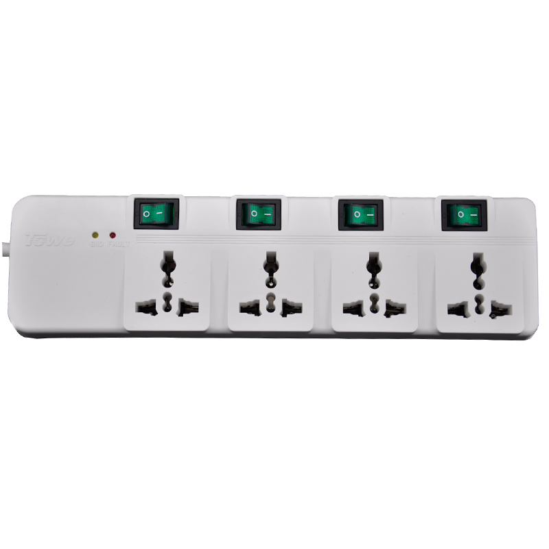 TOWE Extension Electrical Socket power strip AP-4014S 4 universal single control socket wiring boardsurge thunder protector