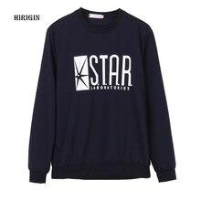 eb493da1a53a96 HIRIGIN Flash Barry Allen gwiazda laboratorium laboratoriów czarny kolor  mężczyzna bluza męska nowość bluzy z kapturem sweter 20.