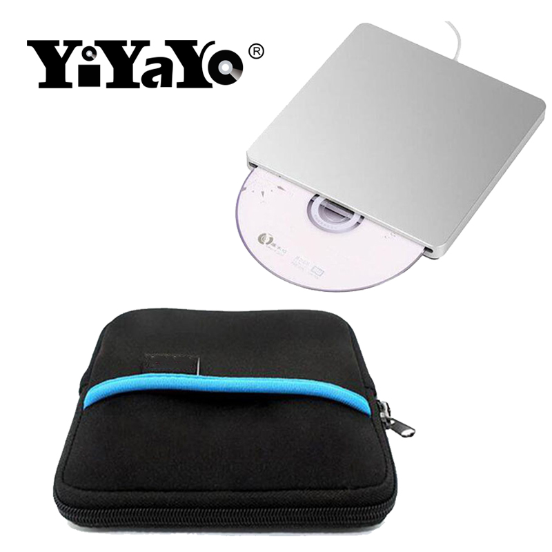 YiYaYo External DVD-RW CD RW Burner USB 3.0 Slot-in CD/DVD-ROM Drive Super Slim Silver For MacBook Air,Macbook Pro+Drive bag blu ray bd rw dvd rw external usb 3 0 apple macbook macbook pro for other laptop desktop with macbook air or usb port