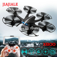 Free Shipping MJX X800 2.4G 4CH 6 Axis UAV Quadcopter RTF Drone RC Helicopter Can Add C4005 WIFI FPV Camera & C4002 VS H20 H107D