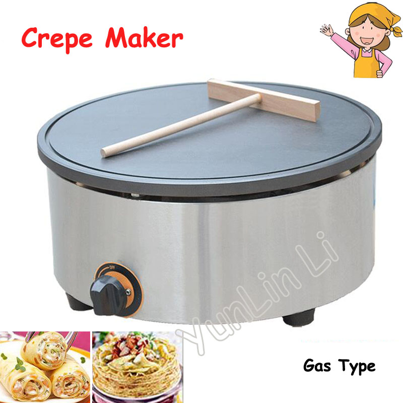 Single Burner Crepe Maker Gas Pancake Maker Pancake Furnace Commercial Pancake Maker Non-stick Crepe Maker FY-420.R 1pc fy 410 r commercial gas type crepe maker machine pancake maker india roti pratar
