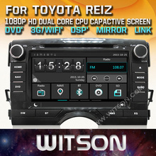 WITSON factory price!! car dvd player for TOYOTA REIZ stereo radio GPS  navigation+Mirror Link function+TPMS+DVR+DSP+WIFI