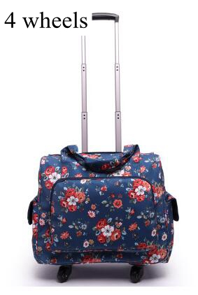 Spinner Suitcase Luggage-Bag Laptop Wheeled Travel Trolley Bags Business 20inch Women