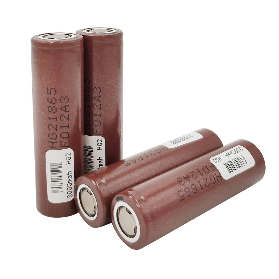 HG2 18650 Battery <font><b>3000mah</b></font> <font><b>3.7</b></font> <font><b>V</b></font> Li-ion Rechargeable 20A Power High Discharge for electronic cigarettes electric tools image
