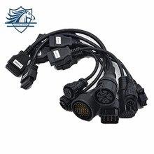 Лидер продаж Грузовик Кабели CDP PRO OBD2 OBDII грузовиков инструмент диагностики подключения кабеля 8 шт. грузовики кабели для TCS CDP PLUS DS150E