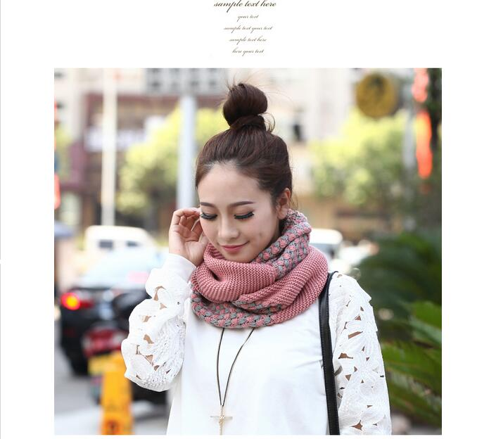 2017 Winter New Women Scarf Korean Women collar Scarf Knit Cute Winter Soft Warmth Scarf wholesales