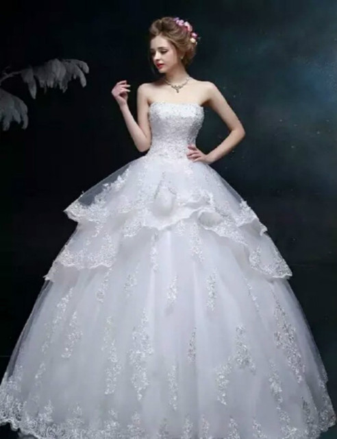 2017 Free Shipping White Ball Gowns For Wedding Size 20 Wedding ...