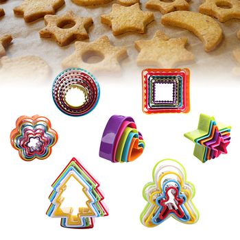 Heart Cookies Cutter Molds Plastic Cake Mould