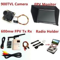RC Fpv Kit Combo System 900TVL Camera + 5.8Ghz 600mw 48CH VTx VRx + 800x480 HD Snow Monitor + Radio holder for RC Car