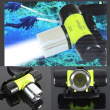 RU USA 2000Lm CREE XML T6 LED Waterproof Underwater Diving Head light Lamp Flashlight Torch free shipping