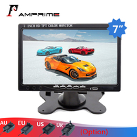 AMPrime 7 LCD Screen Car Rear View Monitor,HDMI VGA Video Audio Mini Computer & TV Digital Display For Rear Camera Car styling