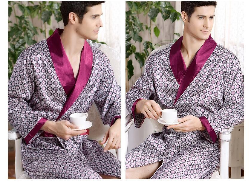 fashion man silk robe wholesale totem spring summer thin long ... d93fdc1b9