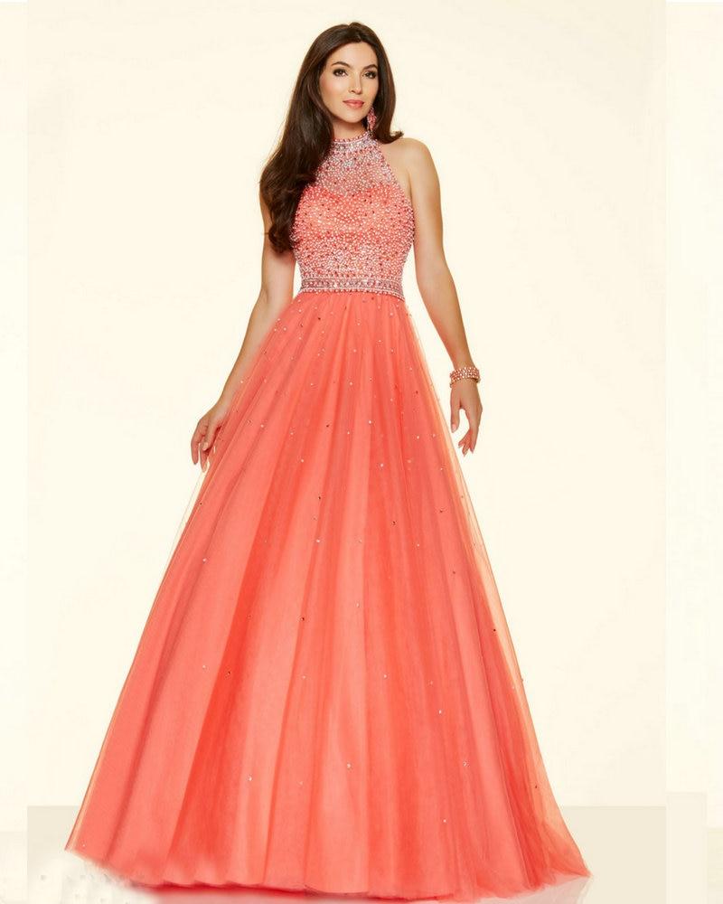 Wedding Aqua Prom Dresses aliexpress com buy style 98096 floor length aqua color dress pucker up pink tulle coral colored prom dresses high neck white dress