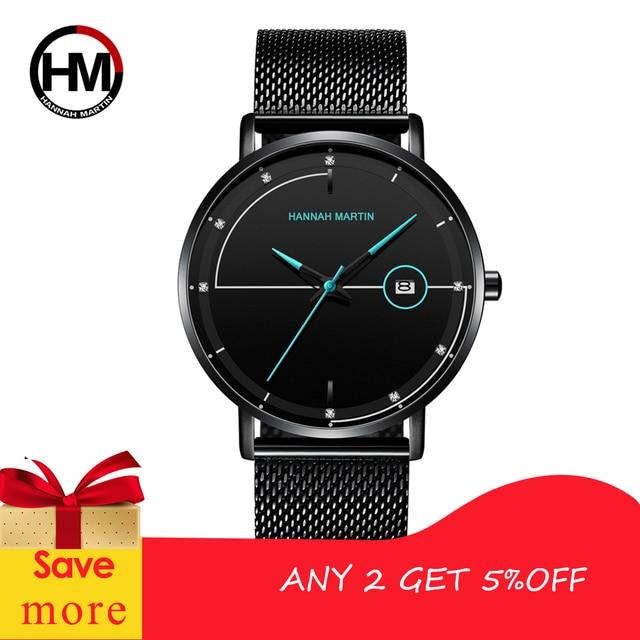 Men Watch Date Top Brand Luxury Japan Movement Quartz Casual Sport Stainless Steel Ultra Thin Waterproof Watch Relogio Masculino 1